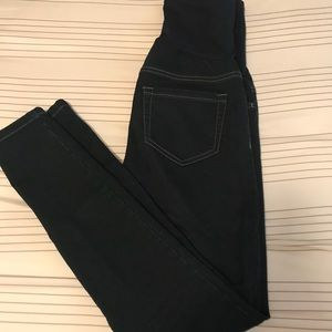 Dark blue Maternity pants comfortable belly area!!